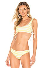 Lovers + Friends Side To Side Top in Yellow Stripe