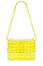 Lovers + Friends Thom Beaded Purse in Yellow