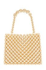 Lovers + Friends Carrie Beaded Purse in Cream