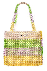 Lovers + Friends Justin Beaded Bag in Multi Stripe