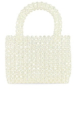 Lovers + Friends Bebe Beaded Bag in Holographic Clear