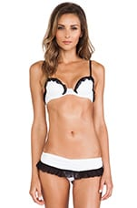 Ruffle Bra in Ivory & Black