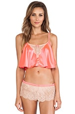 Lovely Eyelash Cami in Neon Coral & Nude