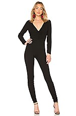 LPA Shirred Catsuit in Black