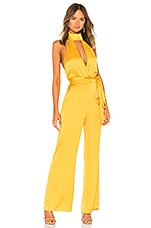 LPA Halter Jumpsuit in Mustard Yellow