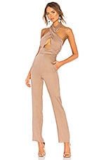 LPA Wrap Halter Jumpsuit in Khaki