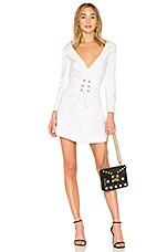 LPA Dress 635 in Ivory Stripe