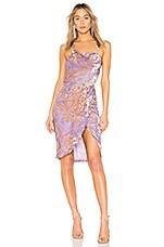 LPA Halter Wrap Dress in Lilac Velvet