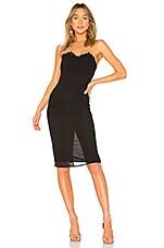 LPA Shirred Bustier Dress in Black