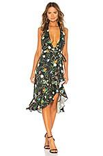 LPA Halter Hi Low Ruffle Dress in Tropical Paradise