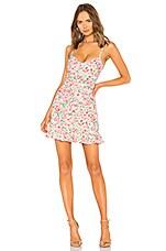 LPA Multi Ruffle Mini Dress in Pink Blooms
