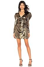 LPA Alesia Mini Dress in Gold
