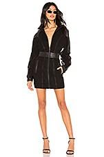 LPA Dolman Zip Up Dress in Black