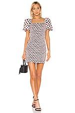 LPA Filomena Mini Dress in Black & Pink