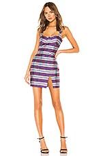 LPA Franca Dress in Purple Plaid