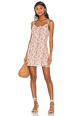 LPA Cowl Mini Slip Dress in Lizz Floral
