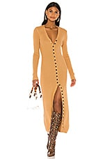 LPA Kavala Sweater Dress in Camel