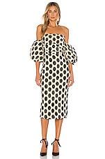 LPA Maya Dress in Beige & Black