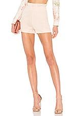 LPA High Waist Ruffle Short in Blush
