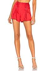 LPA Lace Up Short in Red