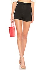 LPA High Waist Ruffle Short in Black