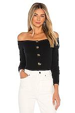 LPA Peony Off Shoulder Sweater in Black