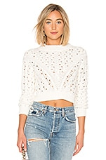 LPA Cropped Cable Sweater in Ivory