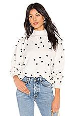 LPA Teza Sweater in Cream Polka Dot