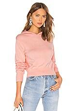 LPA Afton Knit Hoodie in Baby Pink