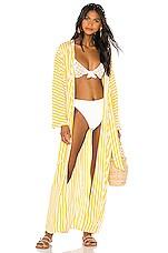 LPA Viola Kimono in Lemon Stripe