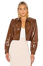 LPA Paulie Leather Jacket in Brown