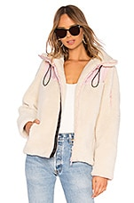 LPA Sherpa Fleece Jacket in Ivory & Pink