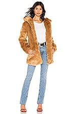 LPA Faux Fur Coat 84 in Brown