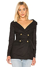LPA Wide Neck Blazer in Black