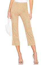 LPA Cropped Pant in Brown & White
