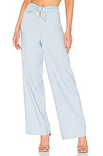 LPA Tie Front Pant in Light Blue