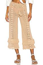 LPA Crochet High Waist Culotte in Beige