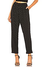 LPA Lacole Pant in Black With Crystal
