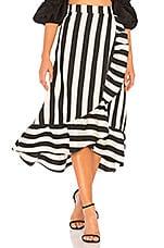 LPA Hi Low Ruffle Skirt in Black & White