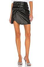 LPA Vreeland Leather Mini Skirt in Black