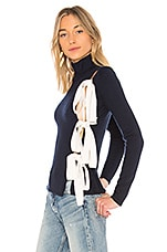 LPA Sweater 507 in Navy and Cream