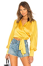 LPA Dolman Wrap Top in Mustard Yellow
