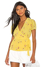 LPA Bello Top in Sequin On Yellow