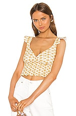 LPA Maggi Top in White and Yellow