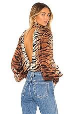 LPA Amira Bodysuit in Tiger Stripe