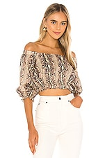 LPA Rara Top in Tan Snake