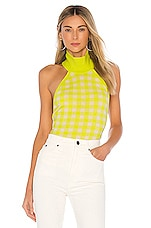 LPA Karina Sweater in Lime Gingham