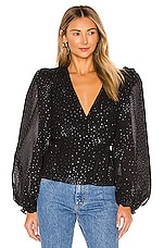 LPA Francis Top in Black & Silver