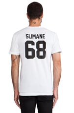 LPD New York Slimane Tee in White with Black