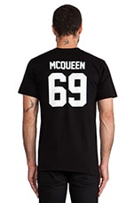 LPD New York McQueen Tee in Black with White Print